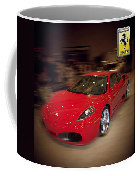 �auto Corner� Collection By Serge Averbukh Coffee Mug featuring the photograph Ferrari F430 - The Red Beast by Serge Averbukh