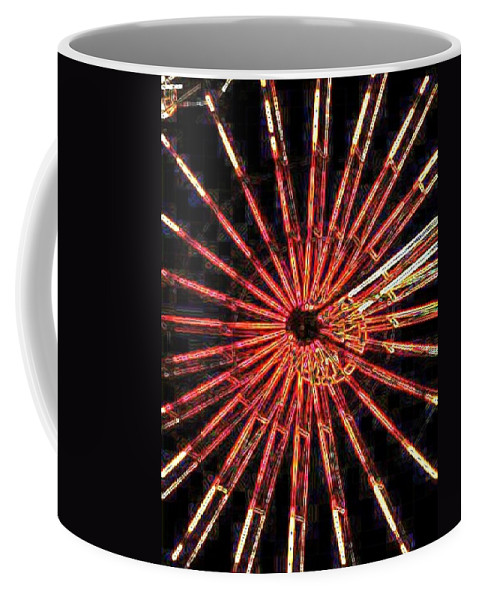 Ferris Wheel Coffee Mug featuring the digital art Ferris Wheel by Tim Allen