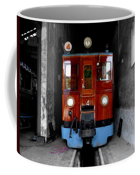 Train Coffee Mug featuring the photograph Ferrocarrril De Soller by Charles Stuart