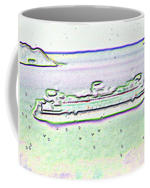 Seattle Coffee Mug featuring the photograph Ferry In The Rain by Tim Allen