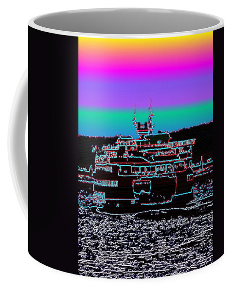 Seattle Coffee Mug featuring the photograph Ferry On Elliott Bay 4 by Tim Allen