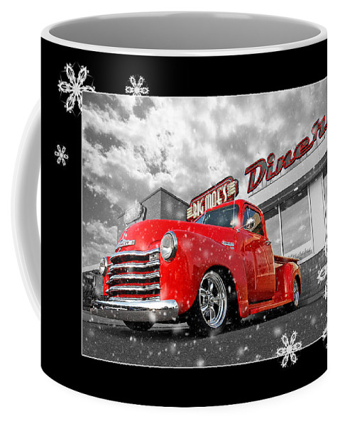 Chevrolet Truck Coffee Mug featuring the photograph Festive Chevy Truck by Gill Billington