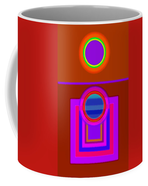 Classical Coffee Mug featuring the digital art Fever Pitch by Charles Stuart