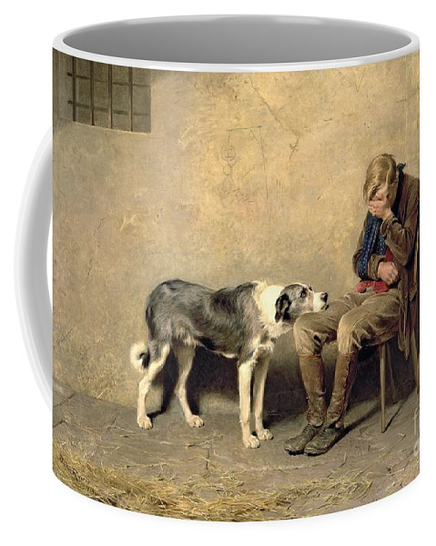 Fidelity Coffee Mug featuring the painting Fidelity by Briton Riviere