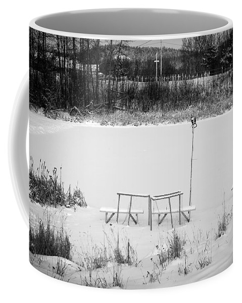 Hockey Coffee Mug featuring the photograph Field Of Dreams by Doug Gibbons