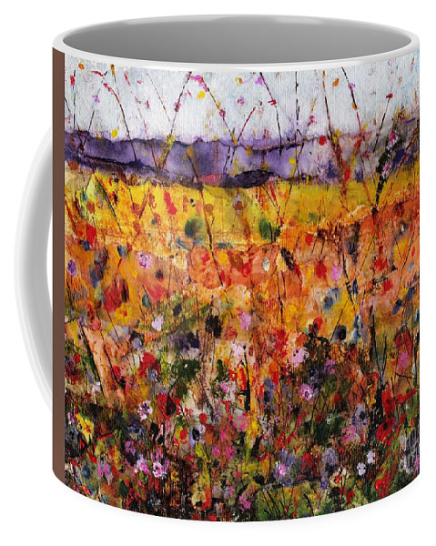 Flowers Coffee Mug featuring the painting Field Of Dreams by Frances Marino