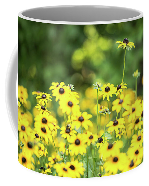 Flower Coffee Mug featuring the photograph Field Of Smiles by MJ Plocki
