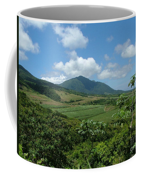 Surgar Cane Coffee Mug featuring the photograph St. Kitts Fields Of Cane by Neil Zimmerman