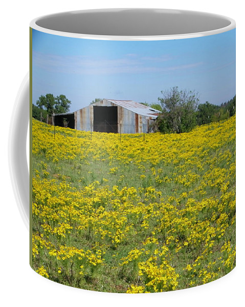 Yellow Coffee Mug featuring the photograph Fields Of Gold by Gale Cochran-Smith
