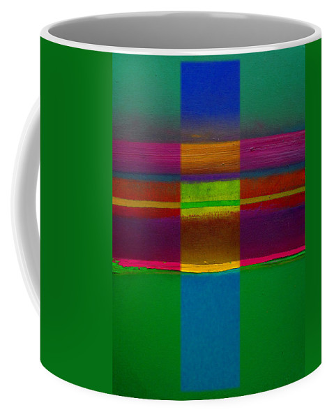Landscape Coffee Mug featuring the painting Fields Of Green by Charles Stuart