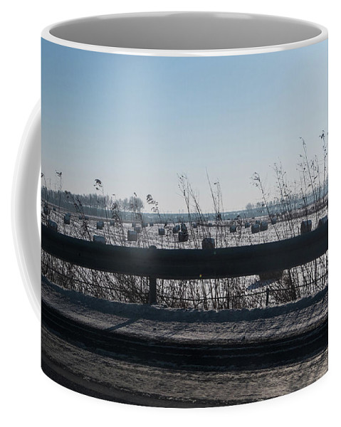 Snow Coffee Mug featuring the photograph Fields Of Snow by Lauren Bucke