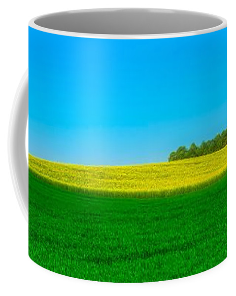 Panorama Coffee Mug featuring the photograph Fields Of Summer by Pixabay