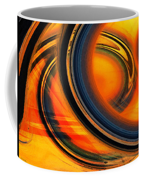 Fiery Rings Coffee Mug featuring the photograph Fiery Celestial Rings by Shawna Rowe