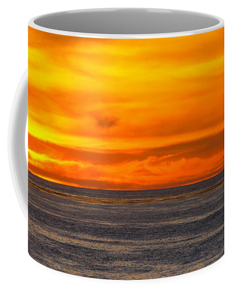 Seascape Coffee Mug featuring the photograph Lava Sky by Samantha Glaze