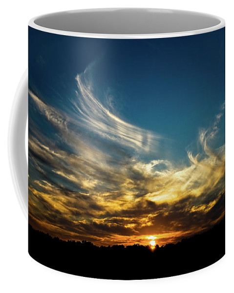 Sunset Coffee Mug featuring the photograph Fiery Sunset by Christopher Holmes