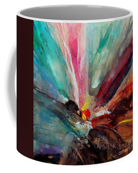 Fiesta Coffee Mug featuring the painting Fiesta by Dragica Micki Fortuna