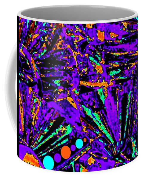 Abstract Coffee Mug featuring the digital art Fiesta by Will Borden