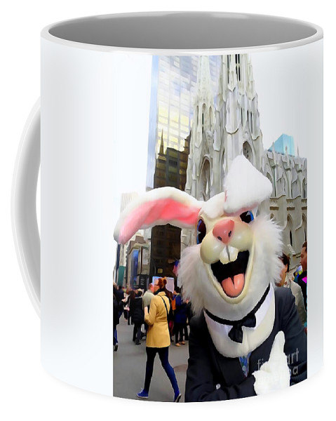 Easter Bunny Coffee Mug featuring the photograph Fifth Ave Easter Bunny by Ed Weidman