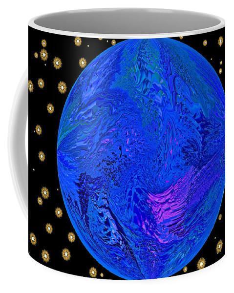 Earth Coffee Mug featuring the digital art Fifth Dimension Earth by Anna Louise