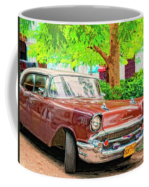 Fifty Seven Coffee Mug featuring the mixed media Fifty Seven by Dominic Piperata