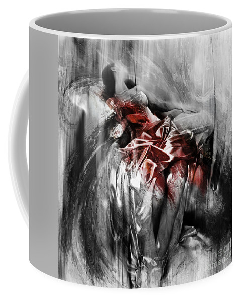 Dance Coffee Mug featuring the painting Figurative Art 004-d by Gull G