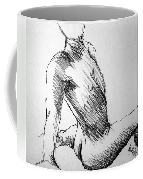 Figure Coffee Mug featuring the drawing Figure Drawing 1 by Nancy Mueller