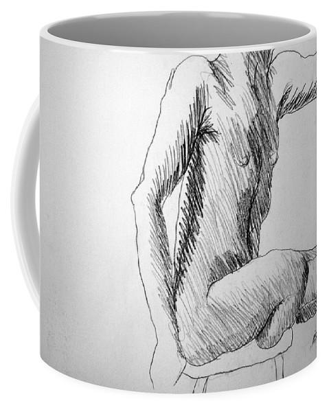 Figure Coffee Mug featuring the drawing Figure Drawing 3 by Nancy Mueller
