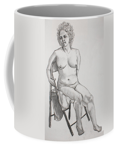 Woman Coffee Mug featuring the drawing Figure Drawing by Jean Haynes