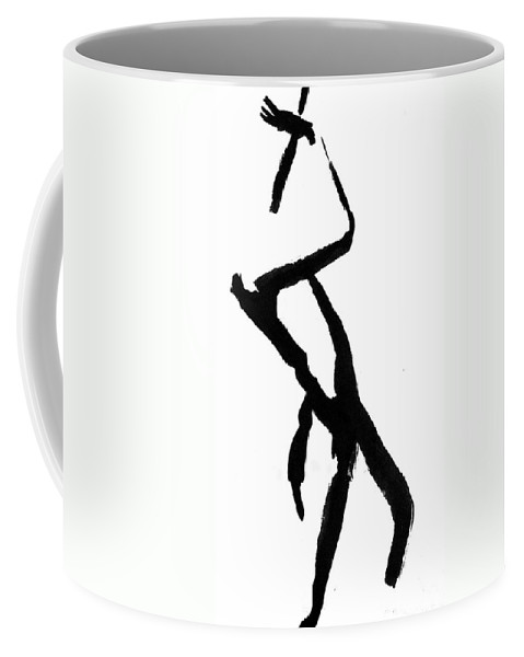 Silhouette Coffee Mug featuring the drawing Figure Silhouette by Nancy Mueller