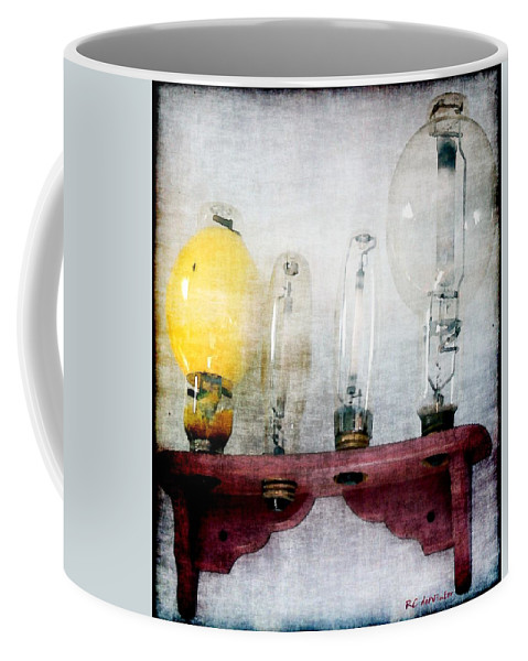 Antiques Coffee Mug featuring the painting 'filamentary My Dear Watson' by RC DeWinter