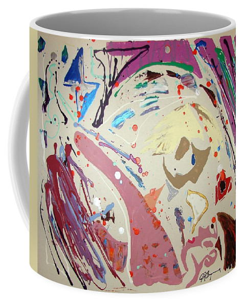 Impressionist Painting Coffee Mug featuring the painting Filling That Hole In The Heart And Saying Sweet Nothings by J R Seymour