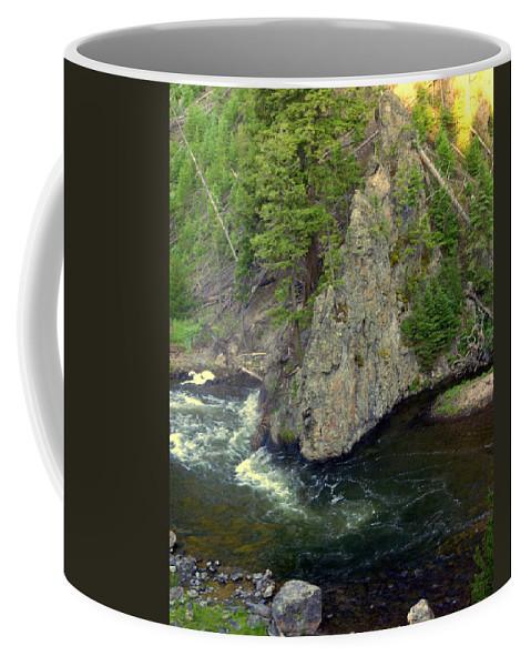 Firehole River Coffee Mug featuring the photograph Fin On The Firehole by Marty Koch