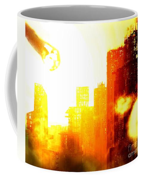 Meteor Showe Coffee Mug featuring the digital art Final Strike by Richard Rizzo