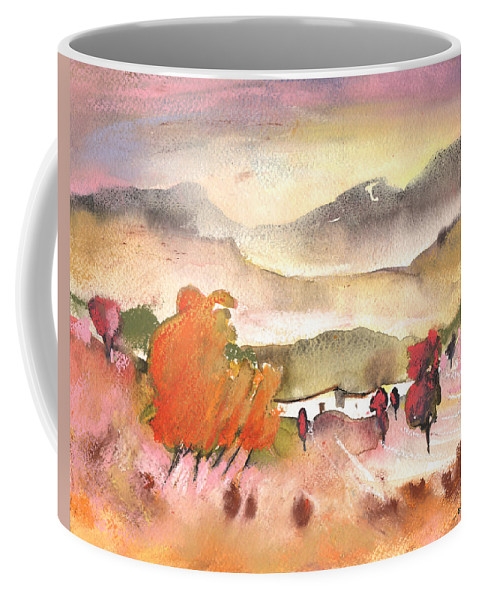 Travel Coffee Mug featuring the painting Finca In Spain by Miki De Goodaboom