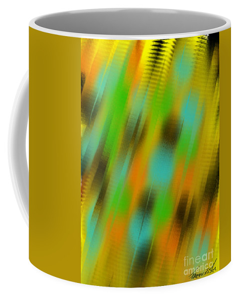 Abstract Coffee Mug featuring the painting Coming Or Going by Frances Ku