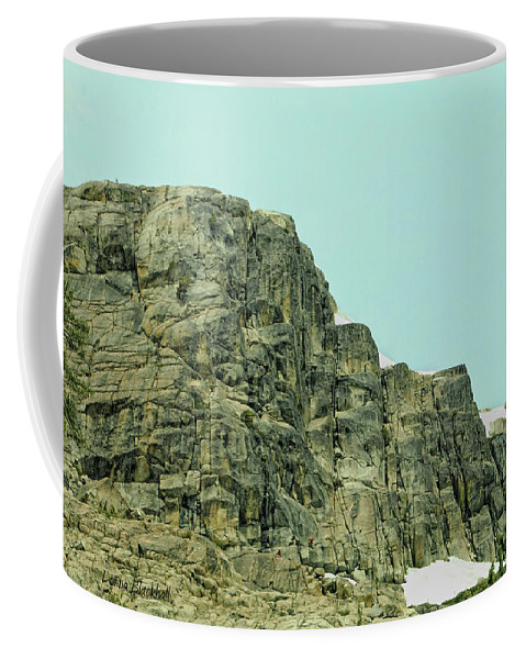 Donner Coffee Mug featuring the photograph Find The Climbers by Donna Blackhall