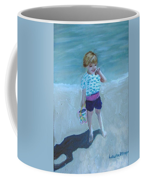 Child Coffee Mug featuring the painting Finding Treasure by Laurie Morgan