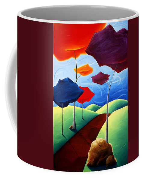 Landscape Coffee Mug featuring the painting Finding Your Way by Richard Hoedl