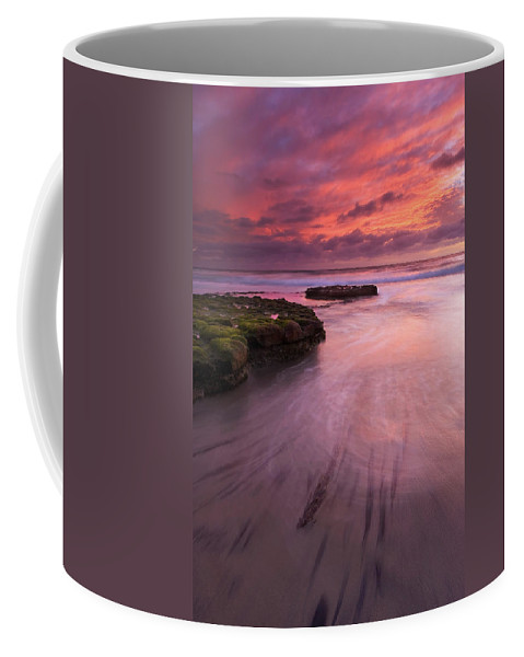 Sunset Coffee Mug featuring the photograph Fingers Of The Tide by Mike Dawson