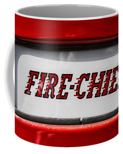 Texaco Coffee Mug featuring the photograph Fire-chief by Stephen Stookey