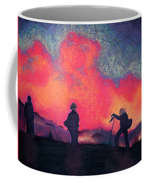 Fire Crews Coffee Mug featuring the drawing Fire Crew by Joshua Morton