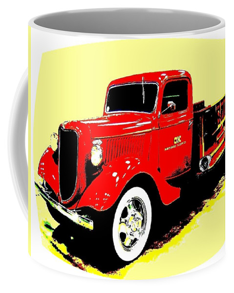 Fire Engine Coffee Mug featuring the digital art Fire Engine Ok by Will Borden