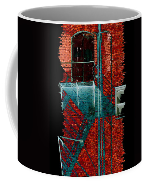 Fire Escape Coffee Mug featuring the digital art Fire Escape 7 by Tim Allen