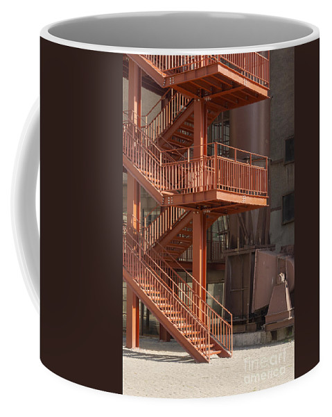 Istanbul Turkey Silahtaraga Power Station Ottoman Electric Company Energy Museum Museum Structure Structures Architecture City Cities Cityscape Cityscapes Fire Escape Escapes Platform Platforms Coffee Mug featuring the photograph Fire Escape And Platforms by Bob Phillips