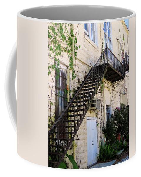 Building Coffee Mug featuring the photograph Fire Escape by Rosalie Scanlon