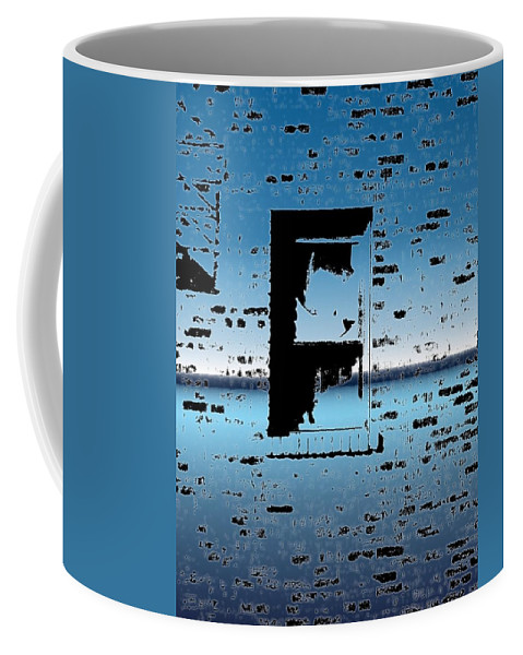 Window Coffee Mug featuring the digital art Fire Escape Window by Tim Allen