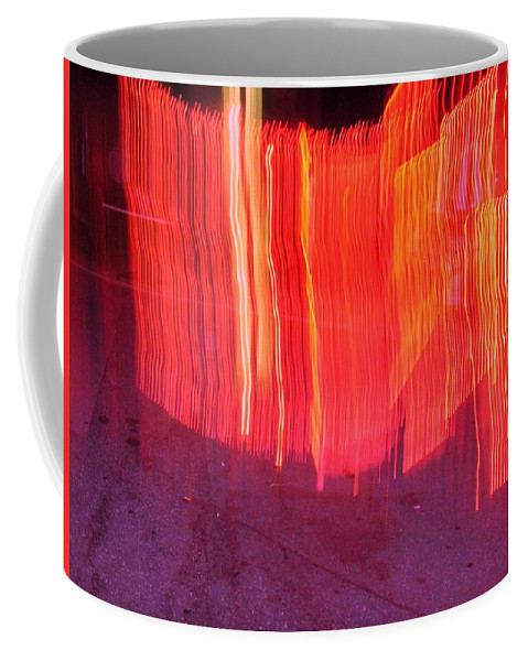 Photograph Coffee Mug featuring the photograph Fire Fence by Thomas Valentine