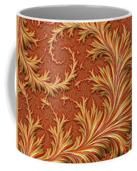 Fractal Coffee Mug featuring the digital art Fire Fern by Elisabeth Lucas