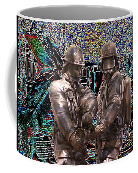 Fire Fighter Coffee Mug featuring the photograph Fire Fighters Memorial Seattle by Tim Allen