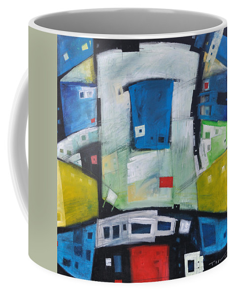 Abstract Coffee Mug featuring the painting Fire In The Belly by Tim Nyberg